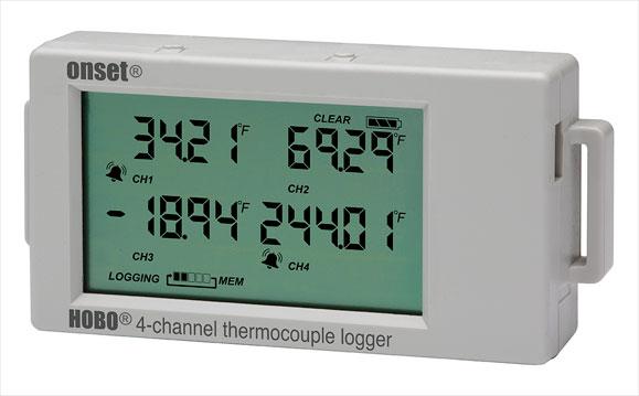 热电偶/温度探头LCD温度记录仪UX120-014M