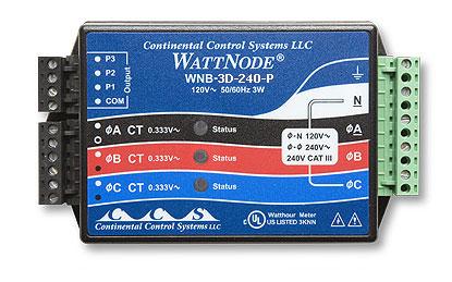 WattNode 208/240 VAC 3相制千瓦时变换器 T-WNB-3D-240